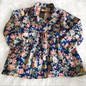 Other - Vintage Floral Trench Coat
